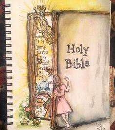 Afbeeldingsresultaat voor bible art journaling John the baptist behold the Bible Study Journal, Scripture Study, Bible Art, Bible Scriptures, Book Art, Art Journaling, Bible Drawing, Bible Doodling, Christian Drawings