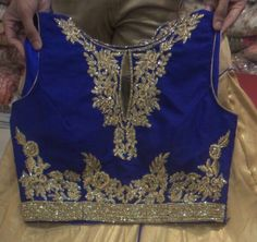 Lengha top royal blue and gold