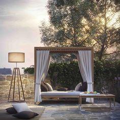 Outdoor Day Bed In Teak