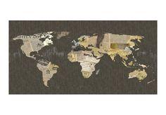 Carta da parati Gossips from the World - originali decorazioni murali di bimago. Carta da parati decorativa Mappe del mondo è una collezione nella quale troverai motivi alla moda.