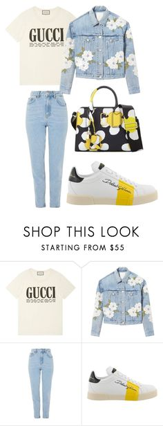 """Gucci gang"" by bestylished on Polyvore featuring mode, Gucci, Rebecca Taylor, Topshop, Dolce&Gabbana et Marc Jacobs"