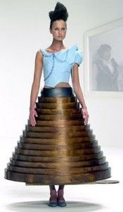 Hussein Chalayan 2000 Wooden Table Dress