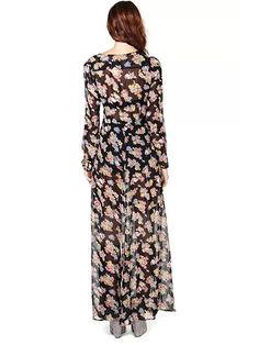 Printing Fitted Scoop Maxi Dress