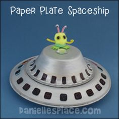 ufo alien space ship paper plate craft for kids