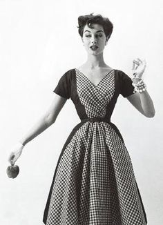 If I were to wear gingham, this is how I would wear it....