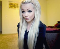hair color + winged eyeliner