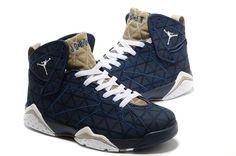 2013 VenteAir Jordan VII 7 Retro Homme Blanc Bleu - €68.00 : Chaussures Nike Air…