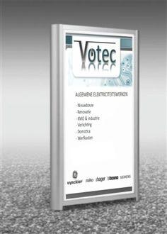 """reclame paneel """"Votec"""""""