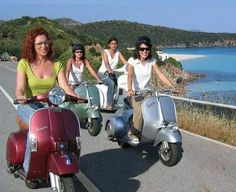 All things Lambretta & Vespa — All the girls like a scooter.