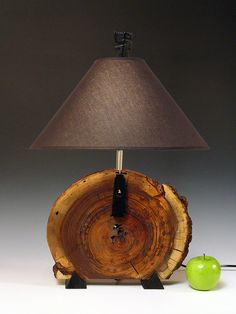 Table lamp. Desk lamp. Desert Driftwood. 173. Naturally weathered walnut. Perfectly flawed and FULL of character.
