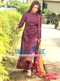 Reeva Lawn 2014 by Shariq Textile  Embroidered Lawn Fabric: Reeva Lawn 2014 by Shariq Textile in the New York City. Complete Sets are Available at Wholesale Prices. by www.dressrepublic.com