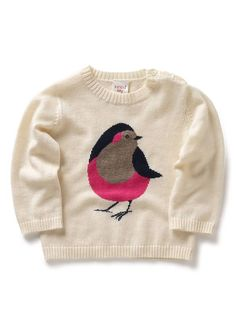 Seed Heritage - Bird Intarsia sweater - http://www.seedheritage.com/knits/bird-intarsia-sweater/w1/i1500425_1001422/