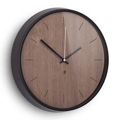 Discover the Umbra Madera Wall Clock - Walnut/Black at Amara