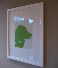 Know a dog or cat lover? Pick up some construction paper and a frame from Dollar Tree and make them a silhouette of their furry friend. It is a gift they are sure to LOVE.