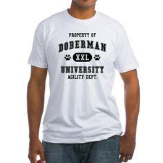 Property of Doberman University. Agility department. XXL. Humorous gift for a Doberman Pinscher lover.