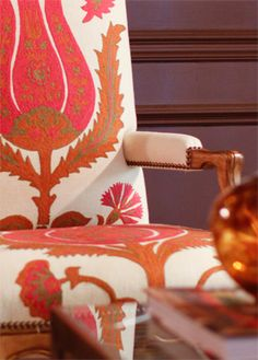 Brunschwig & Fils. Love the coral pink color and the big tulip print!