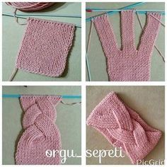 Tutos bandeaux au tricot - Sarah - Knitting for beginners,Knitting patterns,Knitting projects,Knitting cowl,Knitting blanket Knitting Stitches, Free Knitting, Baby Knitting, Knitting Machine, Knit Or Crochet, Crochet Hats, Knitted Hats, Crochet Braids, Blog Crochet