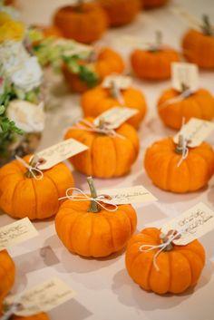 Mini-Pumpkin Escort Cards
