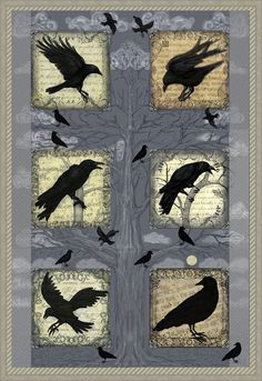 CROWS, BLACK BIRDS AND RAVENS QUILT............PC