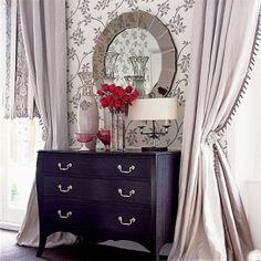 Celebrity closet ideas - luxurious closet boudoir curtains   More on the Luscious website: http://mylusciouslife.com