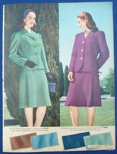 Womens Clothing Spring Summer Coats Suits Original Vintage 1940s Sears Ads | eBay
