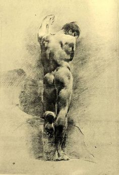 thisblueboy:    Giovanni Battista Piazzetta (1682-1754), Nude Figure of a Young Man, The Ashmolean Museum, Oxford