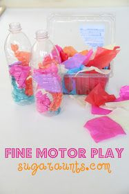 Sugar Aunts: Fine Motor Play with Tissue Paper