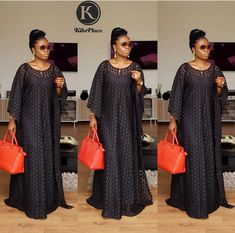 ur Exclusive Love Kaftan in ❤shape Black Candy is back. Black is never wrong. Don't order this when it's out of stock. African Fashion Ankara, Latest African Fashion Dresses, African Print Fashion, Africa Fashion, Long African Dresses, African Lace Styles, Africa Dress, Lace Dress Styles, African Traditional Dresses