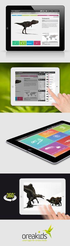 Fantastic Dinosaurs HD Interface - Mobile Interface - Creattica