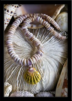 Monica's Blog: Purple Cone Puka Shell & Sunrise Shell Necklace