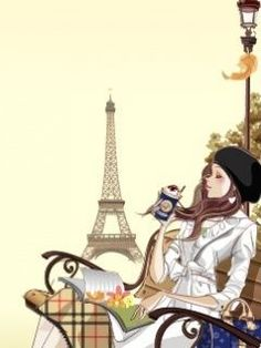 Paris and a nice drink to enjoy at a fashionable sidewalk cafe.