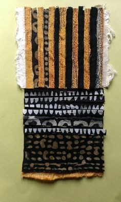 Patricia Kelly - Textile, collage and batik- work in progress