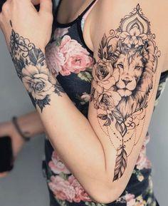 Tattoo Ideas, Tattoo for Guys, Geometric Tattoo, Thigh Tattoo, Tatto … - tatoo feminina Sexy Tattoos, Unique Tattoos, Body Art Tattoos, Girl Tattoos, Sleeve Tattoos, Small Tattoos, Tatoos, Horse Tattoos, Thigh Tattoos