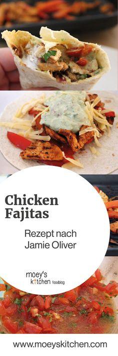 Leckere Chicken Fajitas nach einem Rezept von Jamie Oliver | moeyskitchen.com