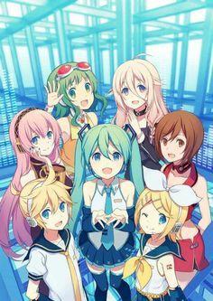 0c6fc953cfbf71c89447b3cf2099b8d3.jpg (236×333) cute but where is Kaito and Gakupo?