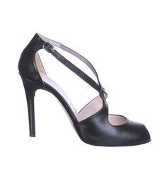 Sandali in pelle open toe neri - Eliana Bucci & Co.