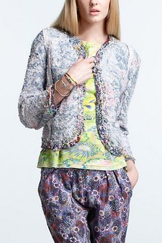 Sequin Tweed Jacket #anthropologie