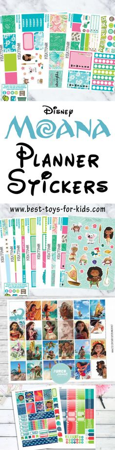 Disney Moana Printable Planner Stickers - Decorate Your Own Planner Princess Style