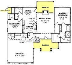 Bungalow Contemporary House Plan 64918 | Contemporary house plans ...