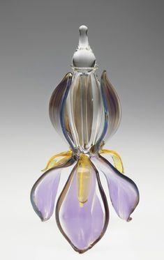 Loy Allen Glass ~ 2014 Bottles - Iris Bottle