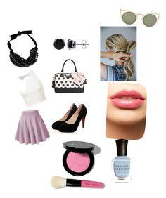 """ely"" by minimuvelez on Polyvore featuring Yves Saint Laurent, BERRICLE, Betsey Johnson, Lauren Conrad, LASplash, Bobbi Brown Cosmetics, women's clothing, women's fashion, women and female"