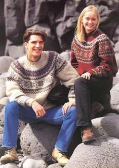 Islandsk Sweater i lett-lopi fra Istex på Island Fair Isle Knitting Patterns, Snow Fashion, Needles Sizes, Digital Pattern, Aesthetic Clothes, Knitwear, Crochet, Men Sweater, Beige