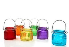 Set of 6 votive holders for outside.  29.00 for all 6 which comes to around 4.83 each today March 17 and March 18, 2012