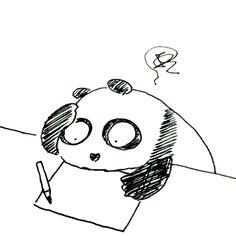 【一日一大熊猫】 2015.8.22 何か作るときは机に向かっていても何も浮かんでこないので色々とやったり読んだりしてそれでもダメで一度頭を空にするけど結局手を動かさにゃいけんと思うて机に向かいます。 #パンダ #創作 http://osaru-panda.jimdo.com