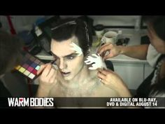 "Warm Bodies - Behind the Scenes - Turning actor Nicholas Hoult into ""R"".......Zombie Makeup"