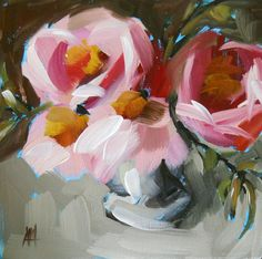 peonies for the table open edition print by von prattcreekart, $10.00