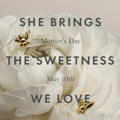 Don't forget! #mothersday is May 10th -- pick up something sweet for Mom from Ann Taylor's Bumble Bee Jewelry Collection.