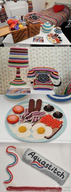 Yarn bombing in your own home...