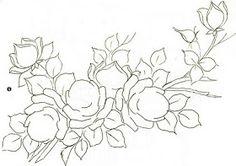 Pintura em tecido riscos flores   Que tal pintar umas flores? Estou postando esse novos riscos de flores , na intenção de inspirar na criaç...