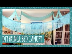 DIY Fringe Canopy - I wasn't sure if i'd like this but I'm really diggin it for a boho room.